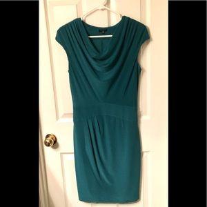 KOMAROV Green Drape Neck Dress.